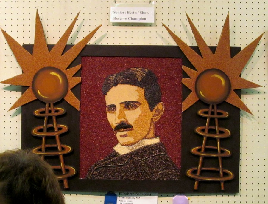 Crop Art - Nikola Tesla