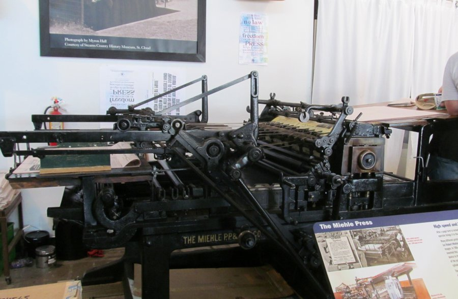 Misc - Newspaper museum printing press