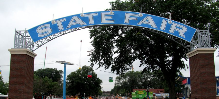 Sign - Restored State Fair entry arch