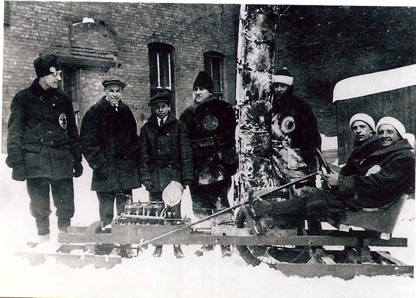 1917 homemade snowmobile