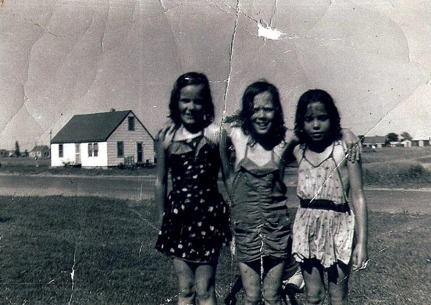 3 bathing beauties, Circle Pines, 1957