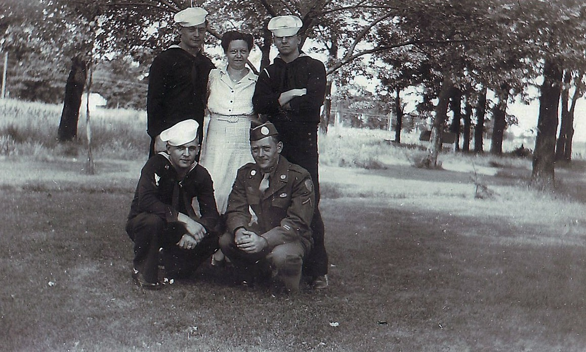 Four sons home from WWII