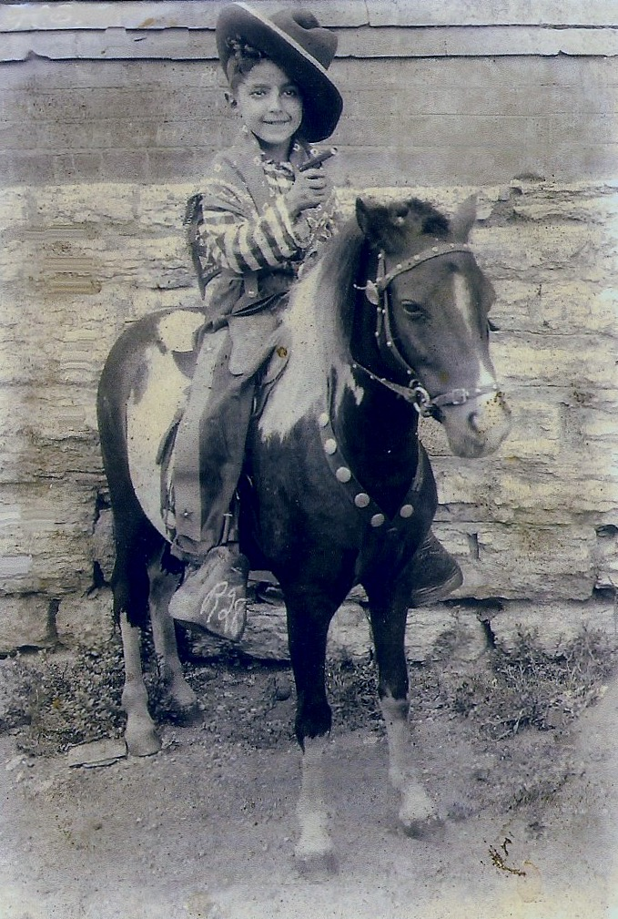 Frannk on a horse, 1935