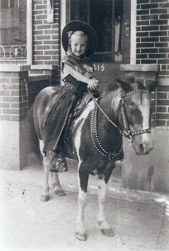 girl on pony, Allentown, Pa.