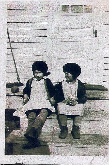 Two girls on stoop, from Opal